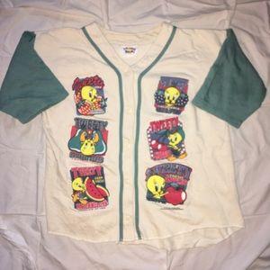 Looney Tunes vintage sweatshirt baseball jersey